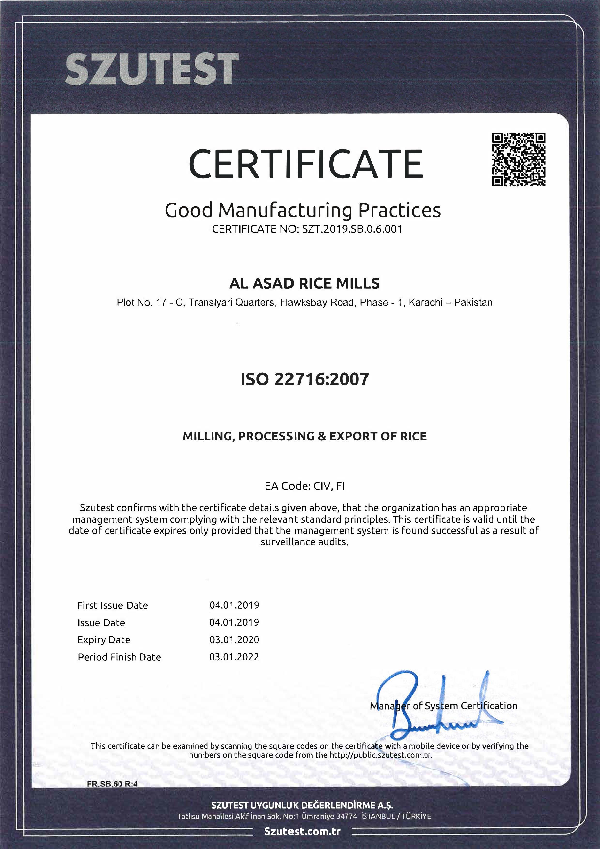 Company Profile – Al Asad Rice Mills